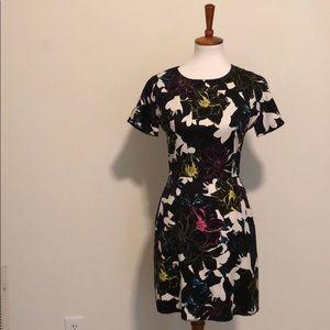 French Connection Black Floral Dress Sz. 4